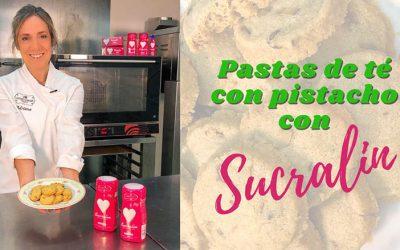Pastas de té de pistacho con Sucralín